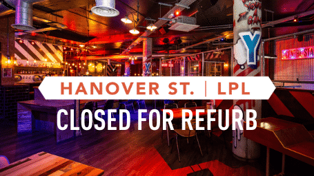 BOOK NOW FOR HANOVER CLOSED FOR REFURB